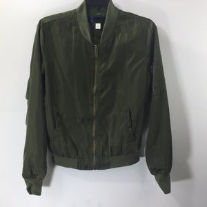 Blue Rain Olive Green Long Sleeve Jacket Size S